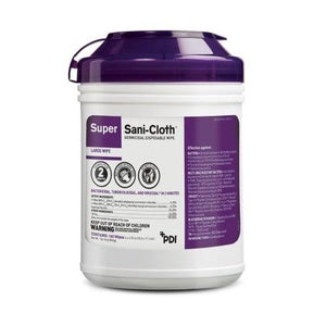 PDI Healthcare Q55172 Surface Disinfectant Super Sani-Cloth Wipes (160 Count)-Preferred Medical Plus