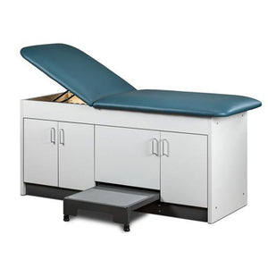 Clinton Industries 9704 Cabinet Treatment Table with 4 Doors and Stool-Preferred Medical Plus