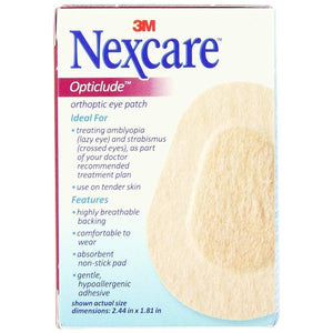 3M 1537 Nexcare Opticlude Orthoptic Eye Patch Junior (2.44 in. x 1.8 in.)-Preferred Medical Plus