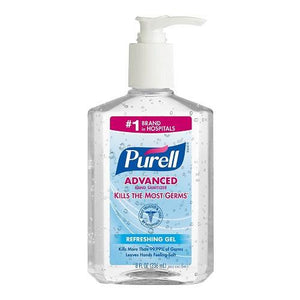Gojo Purell Advanced Gel Pump Bottle 8 oz. (Pack of 12)-Preferred Medical Plus