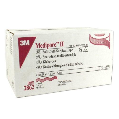3M 2862 Soft Cloth Surgical Tape (2 in. x 10 yd.)-Preferred Medical Plus