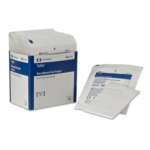 Covidien 1238 Telfa Non-Adherent Pad Prepack (8 in. x 3 in.)-Preferred Medical Plus
