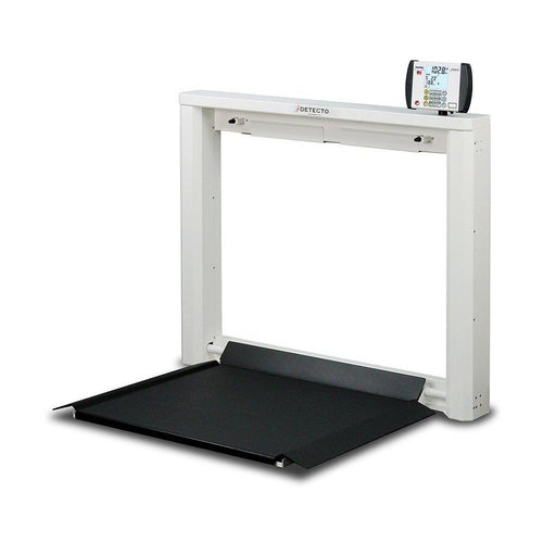 Detecto 7550 Geriatric Wall-Mount Fold-Up Wheelchair Scale-Preferred Medical Plus