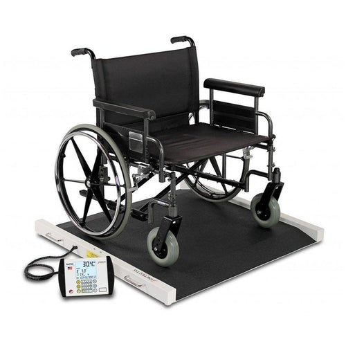 Detecto BRW1000 Portable Bariatric Wheelchair Scale-Preferred Medical Plus