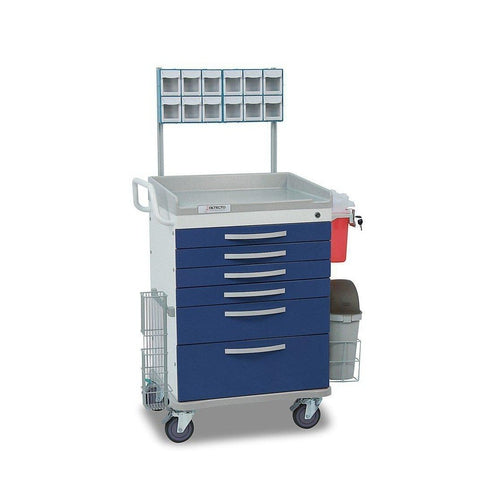 Detecto WC33669BLU Whisper Series Anesthesiology Medical Cart-Preferred Medical Plus