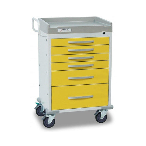 Detecto WC33669YEL Whisper Series Isolation Medical Cart-Preferred Medical Plus
