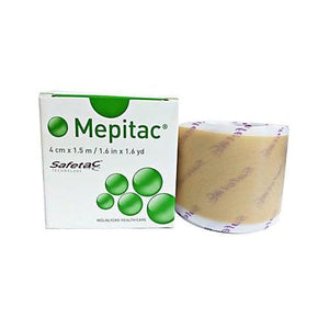 Molnlycke 298400 Mepitac Silicone Tape (1.6 yd x 1.6 yd)-Preferred Medical Plus