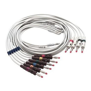 Welch Allyn 401123 10-Lead Replaceable Lead Set with Pinch Clips-Preferred Medical Plus