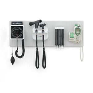 "Welch Allyn 77782-M Green Series Integrated Wall System with 40"" Wall Board & Diagnostic Heads-Preferred Medical Plus"