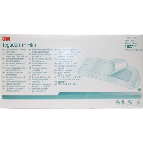 3M 1627 Tegaderm Transparent Dressing (4 in. x 10 in.)-Preferred Medical Plus