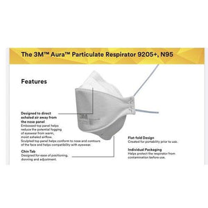 3M Aura Particulate Respirator 9205 Plus (Pack of 20)-Preferred Medical Plus