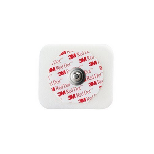 3M 2560 Red Dot Monitoring Electrode with Foam Tape and Sticky Gel-Preferred Medical Plus