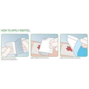 Molnlycke 289500 Mepitel One Silicone Dressing (4 in. x 7.2 in.)-Preferred Medical Plus