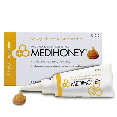 Derma Sciences 31515 Medihoney Wound & Burn Dressing Paste (1.5 oz.)-Preferred Medical Plus