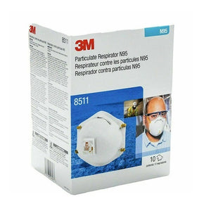 3M 8511 N95 Particulate Respirator Mask (Box of 10)-Preferred Medical Plus
