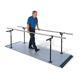Hausmann Industries S-321 Econo Platform Mounted Parallel Bars-Preferred Medical Plus