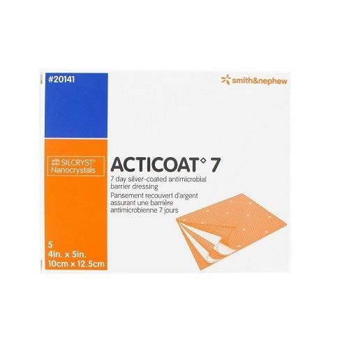 Smith & Nephew 20141 Acticoat 7 Silver Antimicrobial Dressing (4 in. x 5 in.)-Preferred Medical Plus
