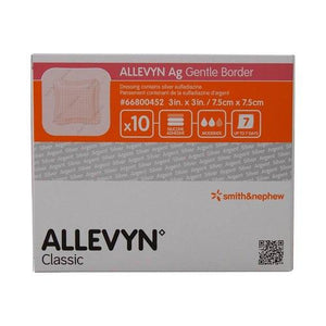 Smith & Nephew 66800452 Allevyn Ag Gentle Border (3 in. x 3 in.)-Preferred Medical Plus