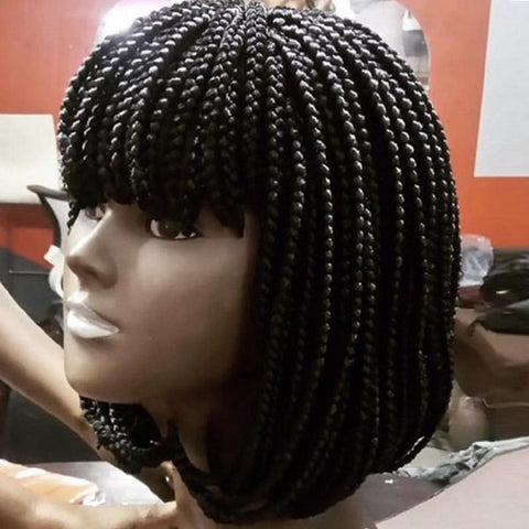 Braid Wigs with Bangs Synthetic Hair for Women