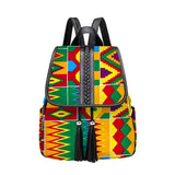 African print backpack