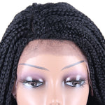 Braided Box Braids Lace Wigs With Baby Hair