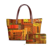 African Mud print tote handbag and purse