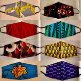 African fabric face masks