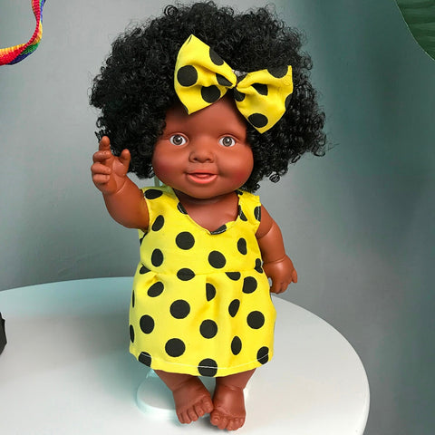 Movable Joint African Baby Girls Doll