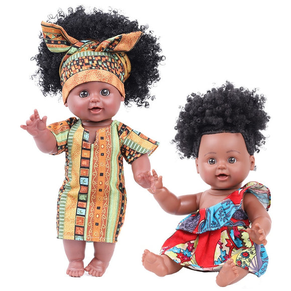 Children Best Playmates Simulation African Doll
