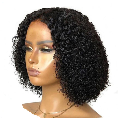Curly Human Hair Pre Plucked Wig