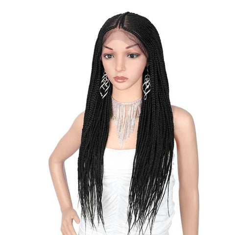 Synthetic Lace Front Fulani Cornrow