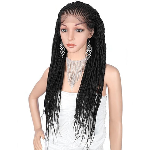 Hand Braided Synthetic Lace Front Wig