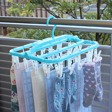 Laundry Hanging Rack To Prevent Socks Mixing Up