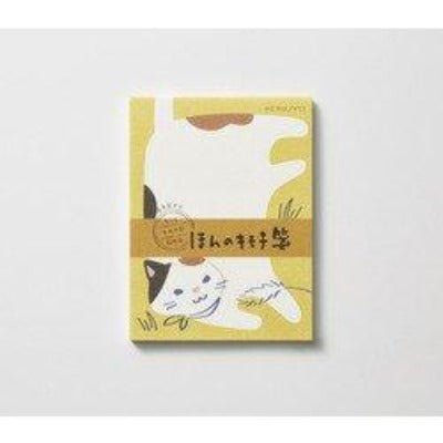 KOKUYO Mini Notepad with Cat / ミニ一筆箋 猫-Stationary-Zak Zakka