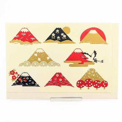 Japanese Christmas Card Mt Fuji