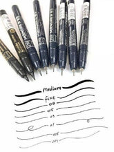 Kuretake ZIG Cartoonist MANGAKA a set of 8 BLACK pens 2