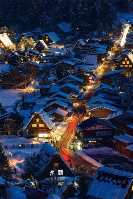 Japanese Christmas Card , a world heritage Shirakawa