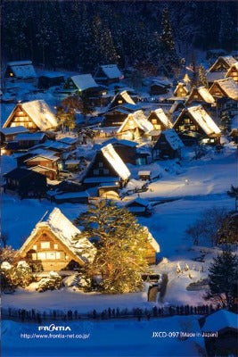 Japanese Christmas Card , a world heritage Shirakawa 2