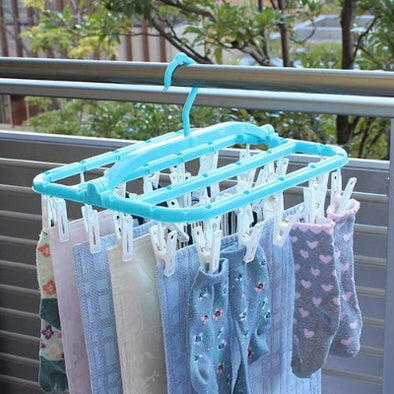 Drying Hangers for small items (26 pinch) / レック スーパー小物まとめ干しハンガー【26ピンチ】-House-Zak Zakka