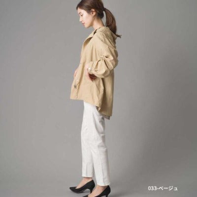 Water-Repellent Nylon Jacket by Omnes Japanese clothing brand-women's apparel-Zak Zakka
