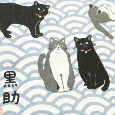 Japanese Animal Print Tote Bag, Cats and Dogs-Daily Goods-Zak Zakka