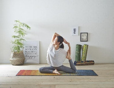 Tatami Non Slip Yoga Mat, Natural Relaxing Scent, Made In Japan/ JOY RE