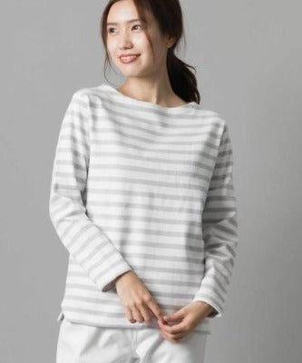 Thick cotton fabric long sleeve boat neck jumperBy Omnes Japanese clothing brand-women's apparel-Zak Zakka