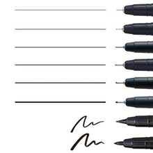 Kuretake ZIG Cartoonist MANGAKA a set of 8 BLACK pens 4