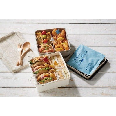 Picnic Lunch Box with an ice pack and cool bag / 保冷バッグ付き行楽ランチセット 2.6L-Kitchen-Zak Zakka