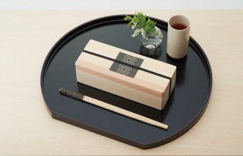 Artisan Disposable Chopsticks (set of 5) / お箸飾り5個セット藍風・利久箸付き-Kitchen-Zak Zakka