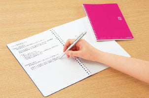 KOKUYO Soft ring Notebooks A5 with dots / ソフトリング A5ドット入り B罫50枚 桃-Stationary-Zak Zakka