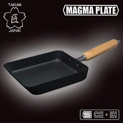 TAKUMI JAPAN iron egg omelette pan Middle size / 匠JAPAN マグマプレート玉子焼き 中-Kitchen-Zak Zakka