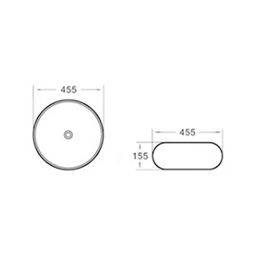 Gloss Round Above Counter Basin Grey Silicone Outside 455X455X155