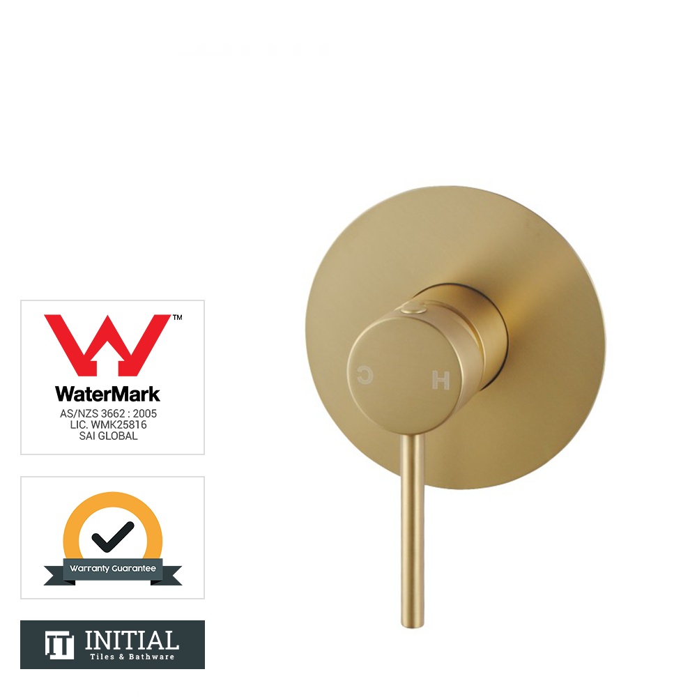 Bathroom Petra Shower Wall Mixer Brushed Yellow Gold